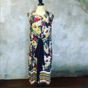 ZARA printed button up dress